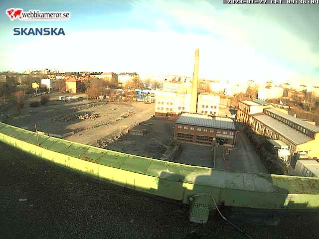Webbkamera - Bostadsprojektet Västermalms Atrium på Kungsholmen