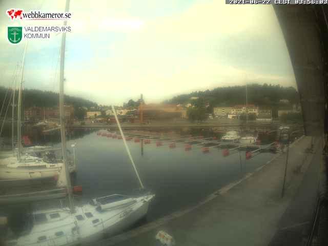 Webbkamera - Valdemarsvik inre hamnen