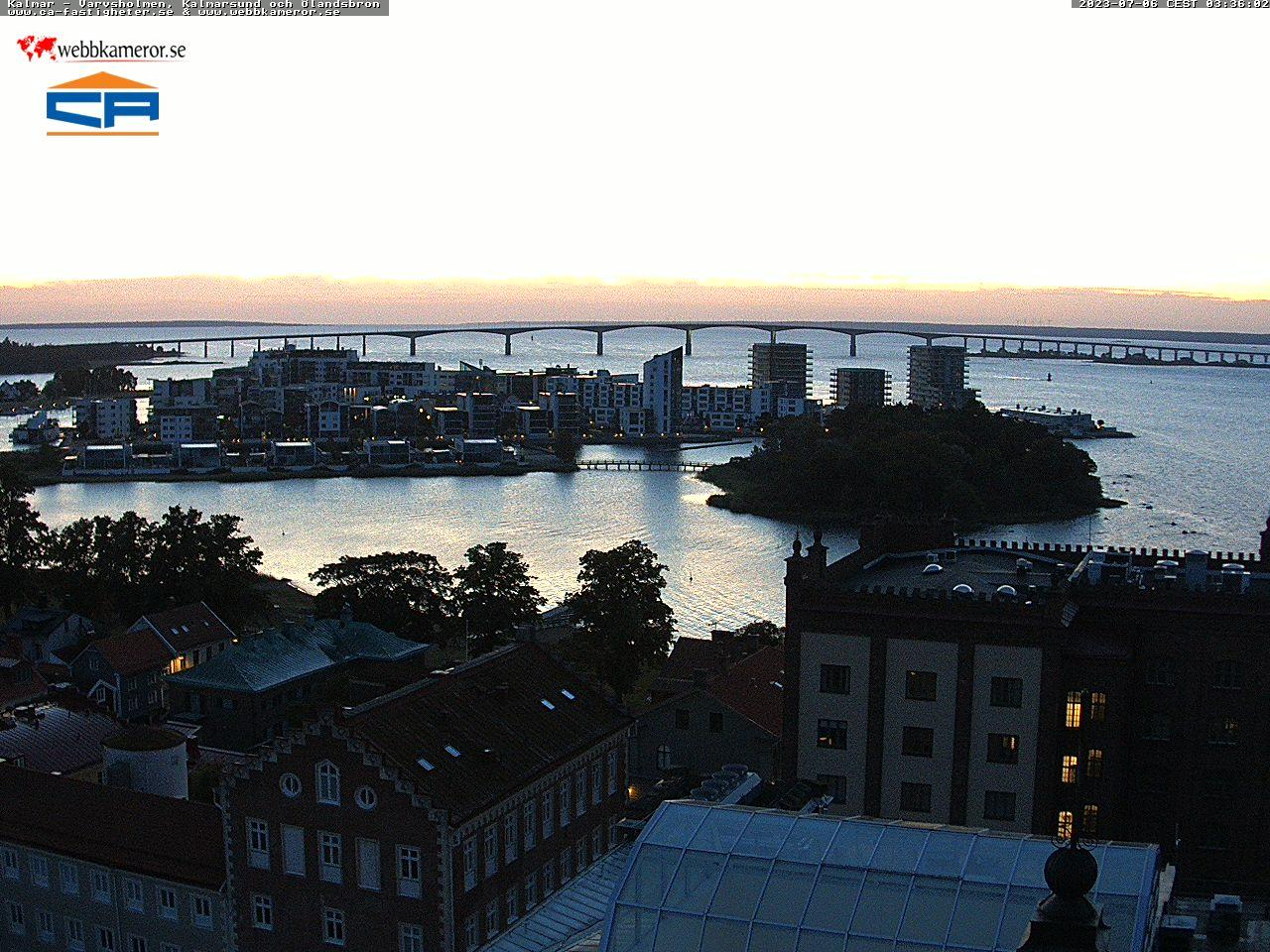 Webbkamera - Kalmar, Ölandsbron, Varvsholmen
