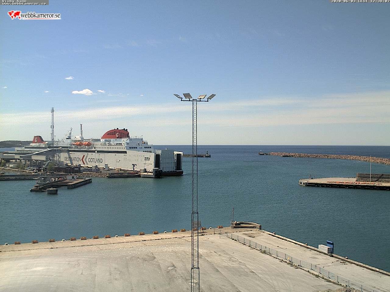Webbkamera - Visby hamn, färjeterminalen, yttre hamnen, hamn inloppet
