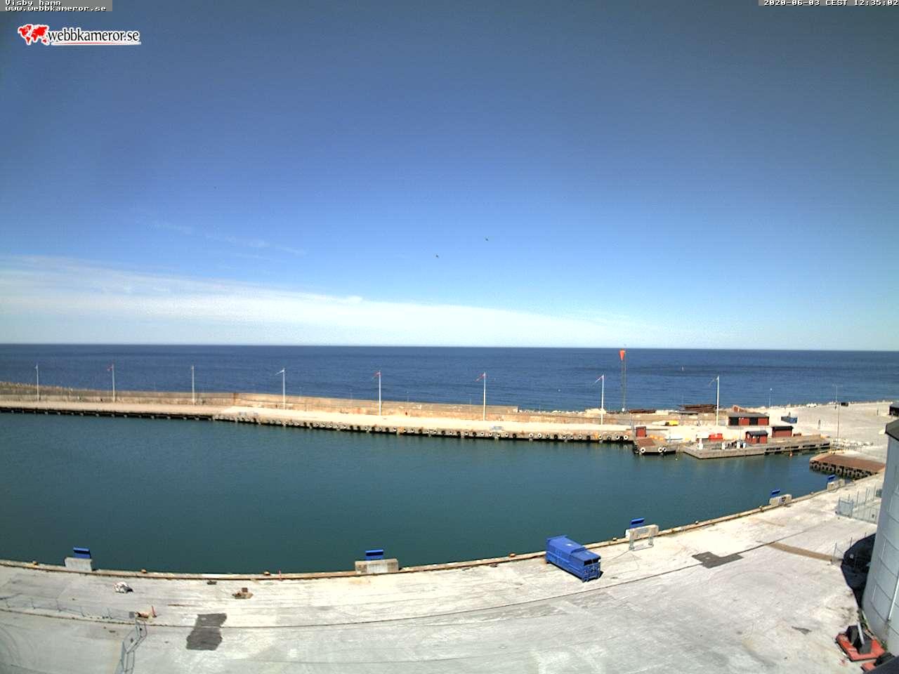 Webbkamera - Visby hamn, yttre hamnen, Östersjön